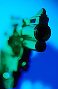 Life-threatening Metal Prints - Gun abstract Metal Print by Garry Gay