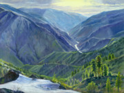 Salmon River Idaho Paintings - Gun Barrel Creek by Steve Spencer