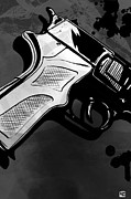 Mystery Digital Art Prints - Gun number 1 Print by Giuseppe Cristiano