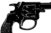 Pop Drawings Framed Prints - Gun number 3 Framed Print by Giuseppe Cristiano