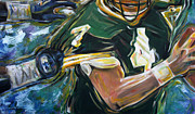 Quarterback Paintings - Gun on the Run by Redlime Art