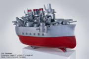 Toys Sculptures - Gunboat by Esteban Blanco