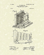 Film Camera Prints - Gundermann Photographic Camera 1904 Patent Art Print by Prior Art Design