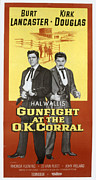 1957 Movies Photo Framed Prints - Gunfight At The O.k. Corral, Burt Framed Print by Everett