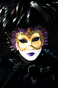 Venice Masks Prints - Gunilla Marias Portrait 2 Print by Donna Corless