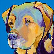 Dogs Prints - Gunner Print by Pat Saunders-White