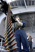 Carrier Prints - Gunners Mate Seaman Taking Aim Print by Stocktrek Images