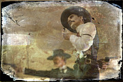 Holliday Prints - Gunslinger II Doc Holliday Print by Toni Hopper