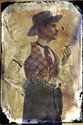 Dressed Photo Framed Prints - Gunslinger III Doc Holliday in fine attire Framed Print by Toni Hopper