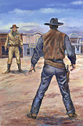 Westen Framed Prints - Gunslingers Framed Print by Page Holland