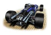Speed Digital Art Prints - Gurney Eagle F-1 Car Print by David Kyte