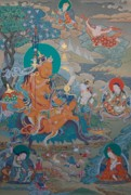 Tibetan Art Paintings - Guru Nyima Ozer by Binod Art School
