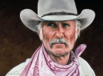 Cowboy Drawings Prints - Gus McCrae Texas Ranger Print by Rick McKinney