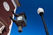 Lamp Post Prints - Guthrie Clock Print by David Waldo