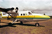 Integration Prints - Guyana Airways Plane At Port Kaituma Print by Everett