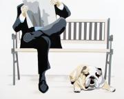 Pet Portraits Originals - Guys Day Out by Slade Roberts
