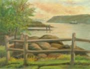 Politicians  Painting Originals - GWB from Hastings by Phyllis Tarlow