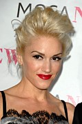 Updo Acrylic Prints - Gwen Stefani At Arrivals For Moca 30th Acrylic Print by Everett