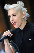 Hair Bun Acrylic Prints - Gwen Stefani On Location For The Nbc Acrylic Print by Everett