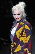 Hair Bun Framed Prints - Gwen Stefani On The Runway For L.a.m.b Framed Print by Everett