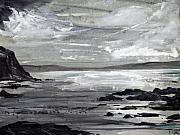 Gwithian Sands Print by Keran Sunaski Gilmore