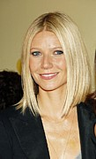 Bobbed Hair Framed Prints - Gwyneth Paltrow At Arrivals Framed Print by Everett