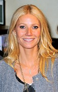Center Part Prints - Gwyneth Paltrow At In-store Appearance Print by Everett
