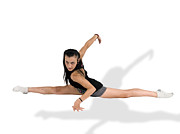 Sports Art Prints - Gymnast Does The Splits  Print by Ilan Rosen