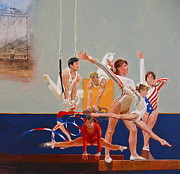 Gymnastics Mixed Media - Gymnastics by Cliff Spohn