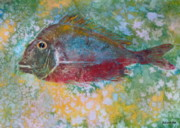Fish Print Prints - Gyotaku 4 Print by Brenda Alcorn