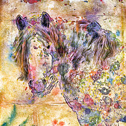 Gypsyhorse Metal Prints - Gypsy Babe Metal Print by Marilyn Sholin