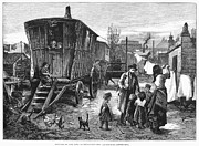 Gypsy Prints - Gypsy Encampment, 1879 Print by Granger