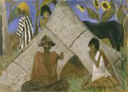 Gypsy Paintings - Gypsy Encampment by Otto Muller or Mueller