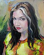 Gypsy Paintings - Gypsy Girl by Jerrold Carton
