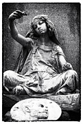 Head Stone Framed Prints - Gypsy Girl Framed Print by John Rizzuto