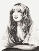 Celebrities Drawings Metal Prints - Gypsy Metal Print by Kathleen Kelly Thompson