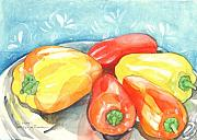 Pepper Paintings - Gypsy Peppers by Helena Tiainen