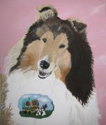 Collie Painting Framed Prints - Gypsy Rose Framed Print by Wendy Jackson