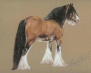Equestrian Pastels - Gypsy Stallion by Terry Kirkland Cook