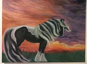 Gypsy Originals - Gypsy Vanner  by Nancy Degan