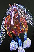 Abstract Horse Paintings - Gypsy Vanner Painting by Jennifer Morrison Godshalk