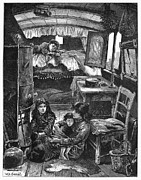Gypsy Prints - Gypsy Wagon, 1879 Print by Granger