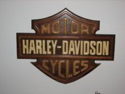 Transportation Reliefs Originals - H-D in Wood by Michael J Balzer