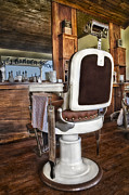 Beard Prints - H J Barber Shop Print by Susan Candelario