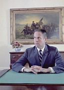 Desks Prints - H. R. Haldeman Served As White House Print by Everett