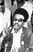 Afros Framed Prints - H. Rap Brown, Chairman Of The Student Framed Print by Everett