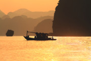 Ha Long Posters - Ha Long Bay Life Poster by Chuck Kuhn