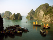Evocative Photo Framed Prints - Ha Long Bay Framed Print by Oliver Johnston