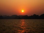 Ha Long Bay Sunset 2 Print by Oliver Johnston
