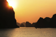 Chuck Kuhn Photography Prints - Ha Long Bay Sunset IV Print by Chuck Kuhn